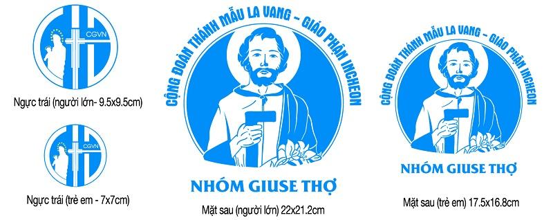 Logo Công giáo - Nhóm Giuse Thợ - Giáo phận Incheon