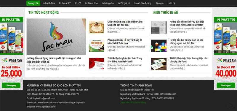 Footer - Website Xưởng in phun khổ lớn Phát Tín