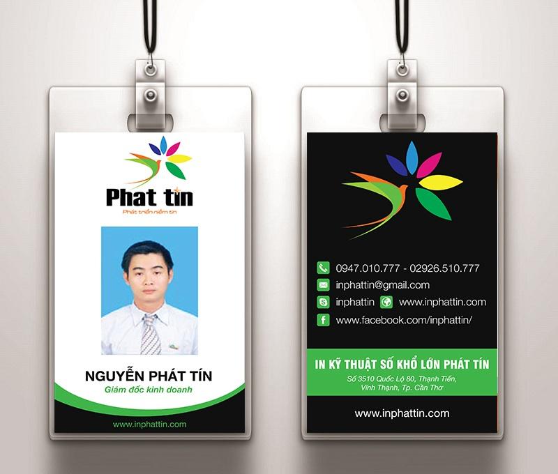 Thẻ nhân viên - Xưởng in phun khổ lớn Phát Tín 2