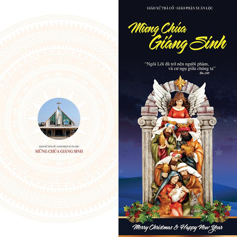 Thiết kế Thiệp Giáng Sinh Giáo xứ Trà Cổ