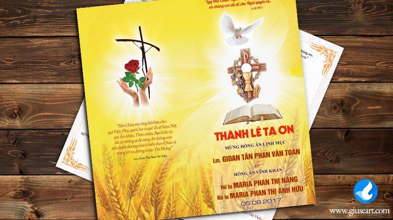 Thiệp mời Lễ tạ Ơn Tân Linh mục và Hồng ân Vĩnh Khấn 2