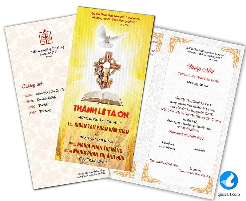 Thiệp mời Lễ tạ Ơn Tân Linh mục và Hồng ân Vĩnh Khấn 5