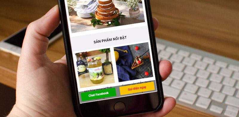 Code tạo nút Hotline và Chat Facebook ở chân trang trên giao diện mobile