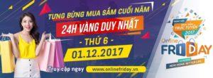 Ngày hội giảm giá Online Friday
