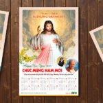 Thiết kế Lịch năm mới 2018 - Lòng thương xót Chúa 5