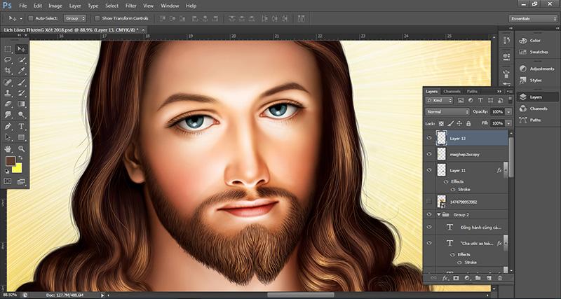 Thiết kế Lịch năm mới 2018 - Lòng thương xót Chúa 6