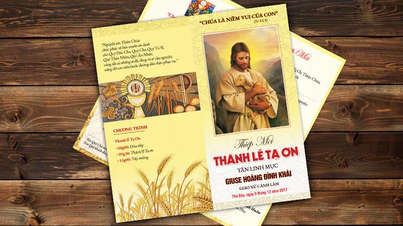 Thiết kế Thiệp mời Lễ tạ ơn Tân Linh Mục 1