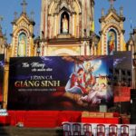 Phông sân khấu Giáng Sinh 2017 - Giáo xứ Quỹ Ngoại