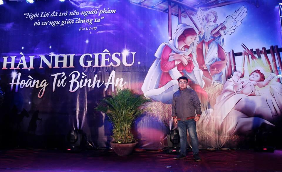 Phông sân khấu Giáng Sinh - Giáo xứ Đồng Trì