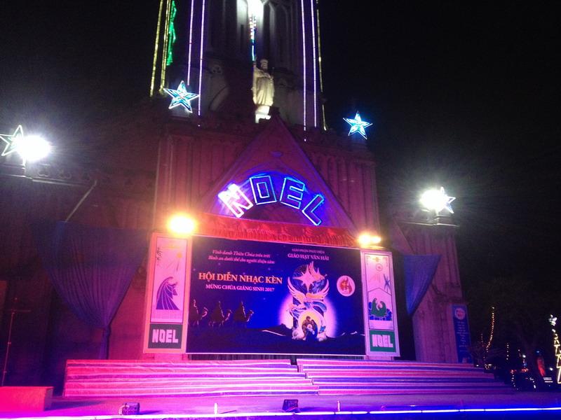 Phông sân khấu Hội diễn Nhạc kèn 2017