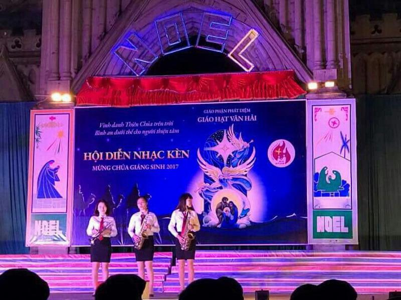Phông sân khấu Hội diễn Nhạc kèn - Giáo hạt Văn Hải