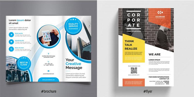 Phân biệt Brochure và Flyer