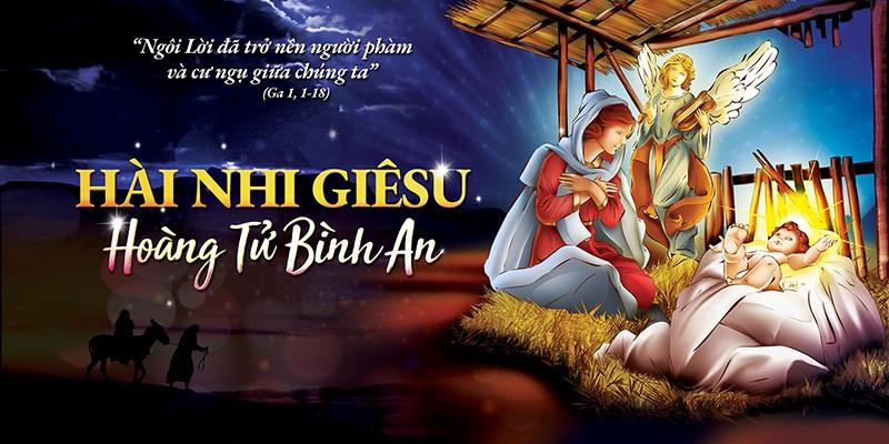 Phông nền giáng sinh - Hài nhi Giêsu - Hoàng tử Bình An