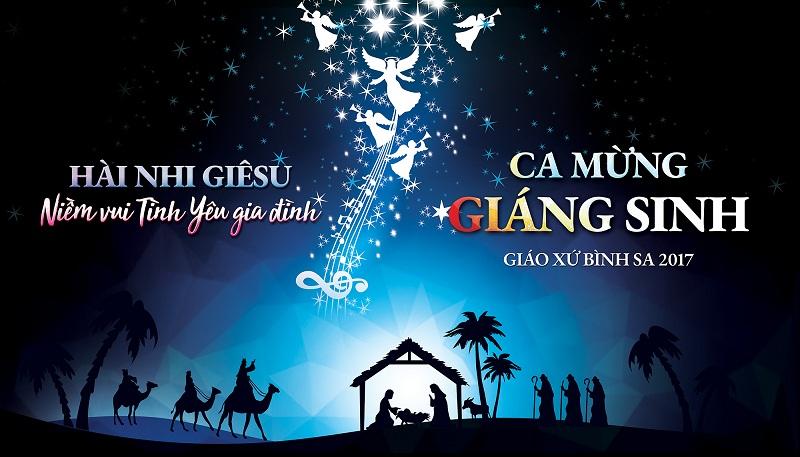 Phông sân khấu Giáng Sinh - Niềm vui tình yêu Gia đình