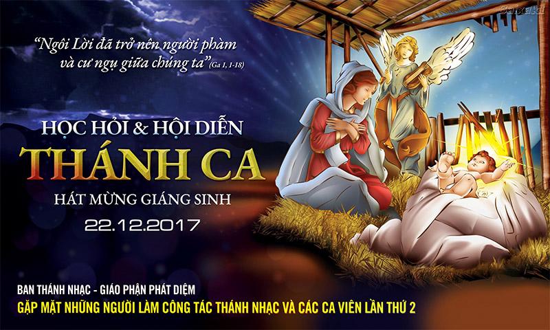 Phông sân khấu Hội diễn Thánh Ca - Giáo phận Phát Diệm 2017
