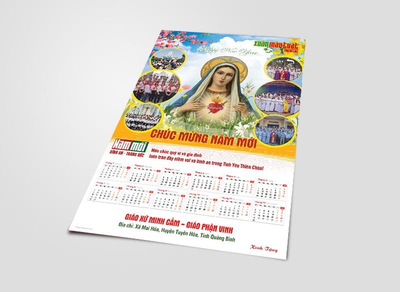 Thiết kế Lịch Công giáo treo tường - Chúc Mừng Năm Mới 13