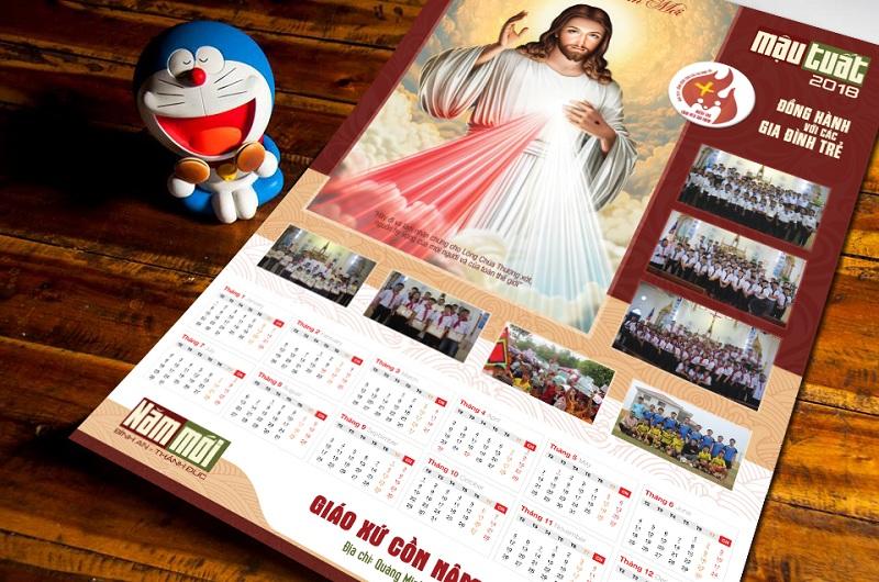Thiết kế Lịch Công giáo treo tường - Chúc Mừng Năm Mới 3