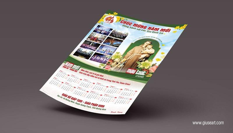 Thiết kế Lịch Công giáo treo tường - Chúc Mừng Năm Mới 4