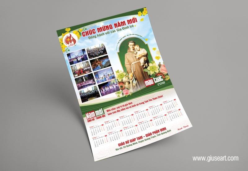 Thiết kế Lịch Công giáo treo tường - Chúc Mừng Năm Mới 5