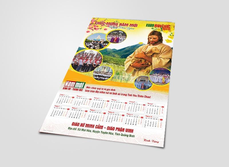 Thiết kế Lịch Công giáo treo tường - Chúc Mừng Năm Mới 8