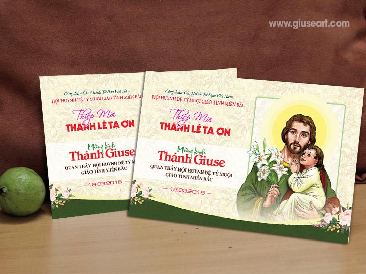 Giuseart.com - Thiệp mời Bổn mạng Thánh Giuse 1
