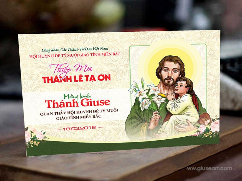 Giuseart.com - Thiệp mời lễ quan thầy thánh Giuse