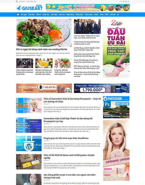 Thiết kế web tintuc.ninhbinhweb.com