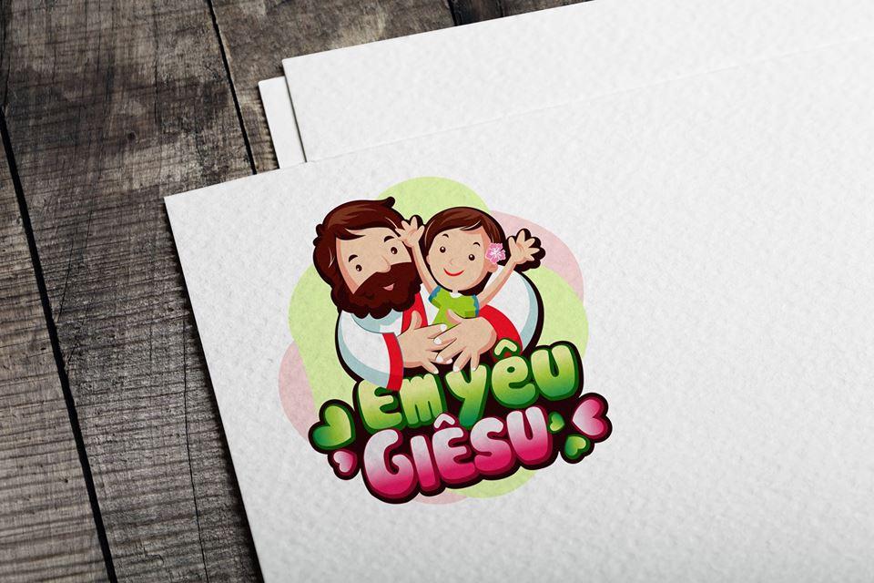 Giuseart.com - Logo Thiếu Nhi Thánh Thể - Em yêu Giêsu