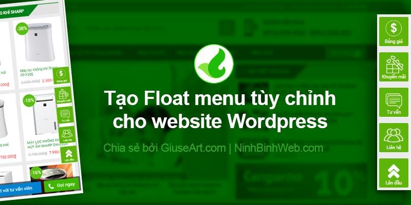 Tạo Float menu tùy chỉnh đẹp cho website Wordpress | GiuseArt com