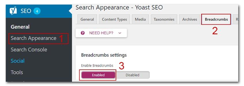 Giuseart.com---Chèn-Breadcrumbs-vào-wordpress-sử-dụng-plugin-Yoast-Seo
