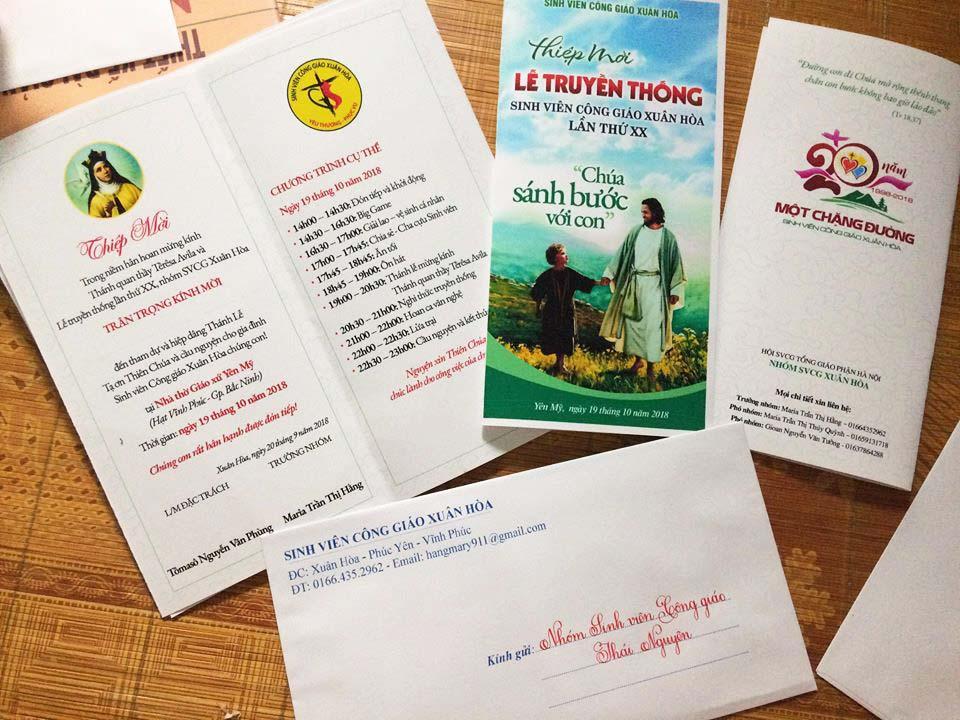 Giuseart.com Thiệp mời Lễ truyền thống SVCG Xuân Hòa lần thứ 20