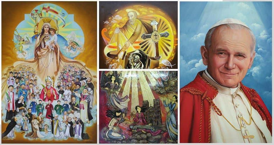 Giuseart.com---Một-số-tác-phẩm-trong-triển-lãm-mỹ-thuật-Công-giáo