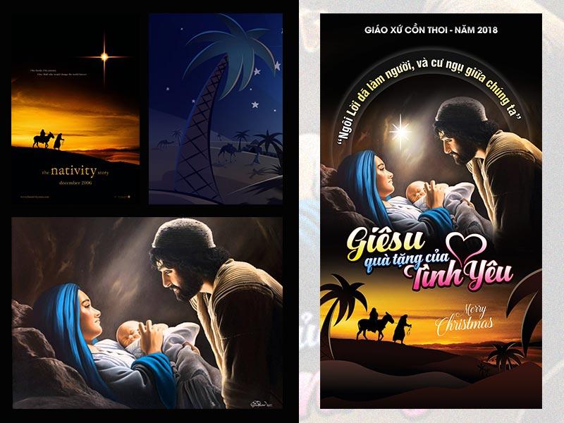 Giuseart.com-Thiết-kế-phông-sân-khấu-Giáng-Sinh Cồn Thoi