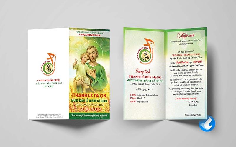 Giuseart.com - Thiệp mời Lễ Bổn Mạng thánh Giuse
