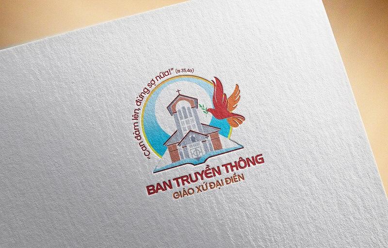 Giuseart.com - Thiết kế logo công giáo Ban truyền thông Đại Điền