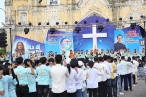 Giuseart.com - Hình ảnh thực tế phông sân khấu lễ truyền thống