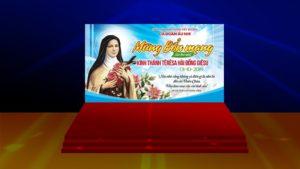 Giuseart.com - Phông sân khấu lễ bổn mạng Têrêsa Hài Đồng Giêsu