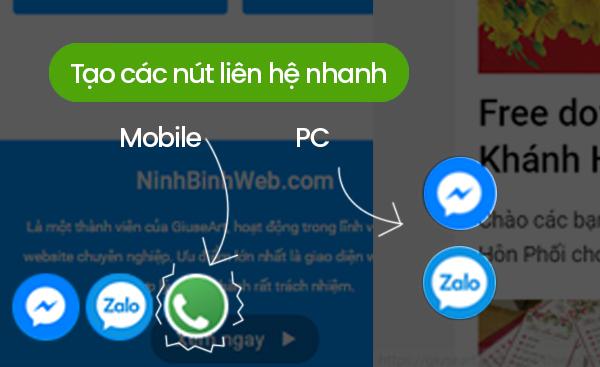 Hướng dẫn tạo các nút liên hệ nhanh cho website bằng html và css