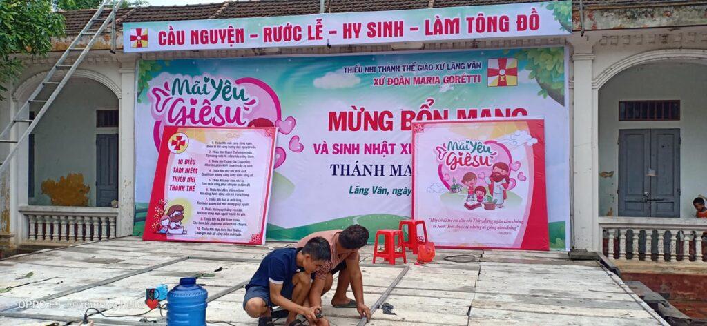 Giuseart.com- Thi công sân khấu Lễ Bổn Mạng TNTT