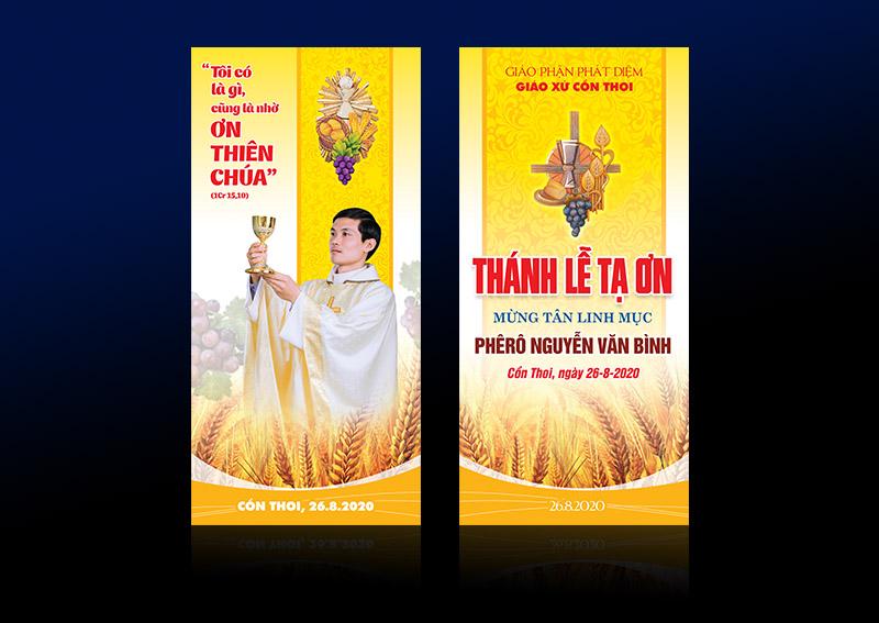 Giuseart.com - Pano trang trí Lễ Tạ Ơn Tân linh mục