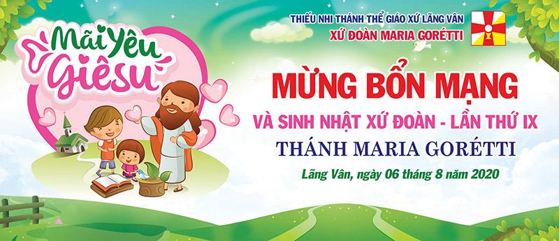 Giuseart.com - Phông sân khấu Lễ Bổn Mạng TNTT