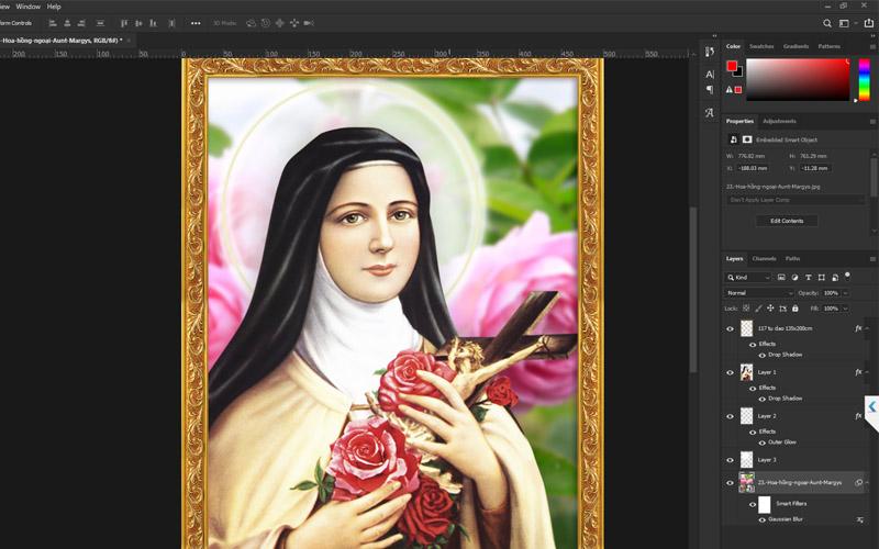 Giuseart.com - Thiết kế khung ảnh Thánh Quan Thầy